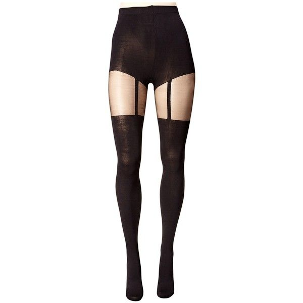 Pretty Polly Plus Size Curves Suspender Tights ❤ liked on Polyvore featuring intimates, hosiery, tights, plus size stockings, plus size suspender tights, pretty polly, plus size women in pantyhose and plus size tights