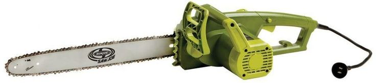 Sun Joe 18 in. 14 Amp Electric Rear Handle Chainsaw Tool-Less Tensioning Green #chainsaw #tools