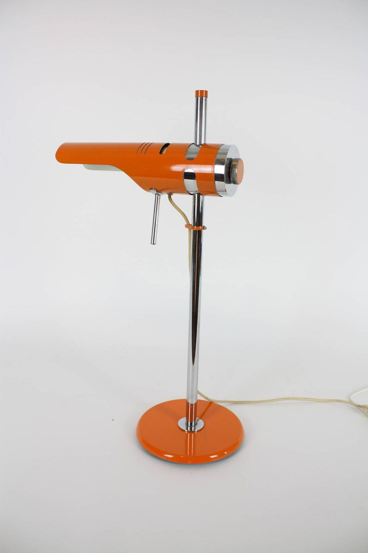 italian orange table lamp in the style of joe colombo - Modern Table Lamp