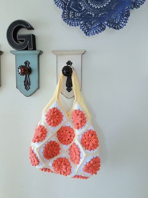 crochet squares bag