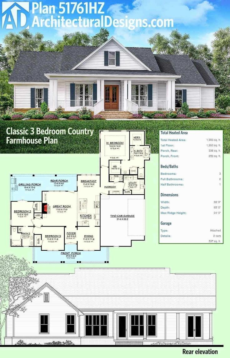 One Story Farmhouse Plans Wrap Around Porch Awesome Farmhouse House Plans With Wrap Arou Architectural Design House Plans House Plans Farmhouse Farmhouse Plans