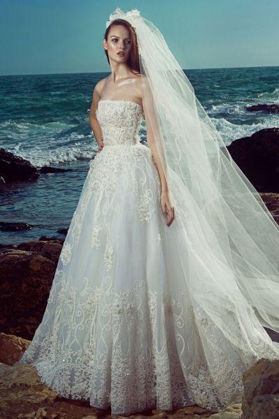 Vestidos de novia palabra de honor 2017: ¡El diseño más deseado! Image: 13