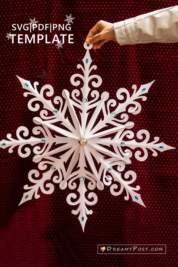 3d Snowflake Template And Tutorial Giant And Small Sizes