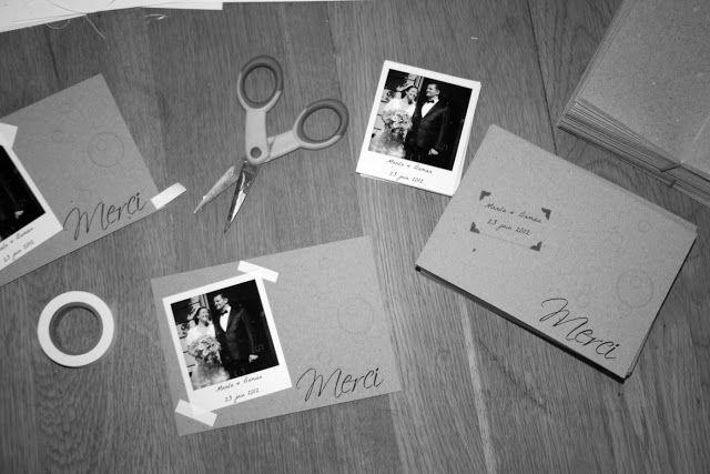 Cartes de remerciements: polaroids et kraft | Paper Papel Papier (fr)