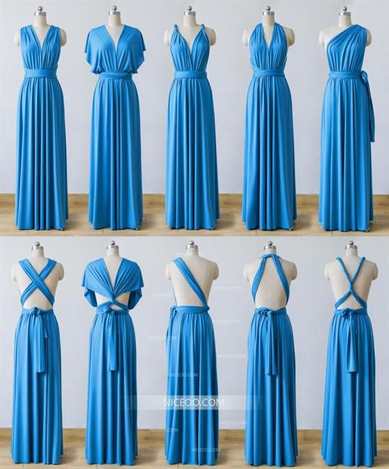 37d022dc719 Dodger Blue Infinity Bridesmaid Dresses