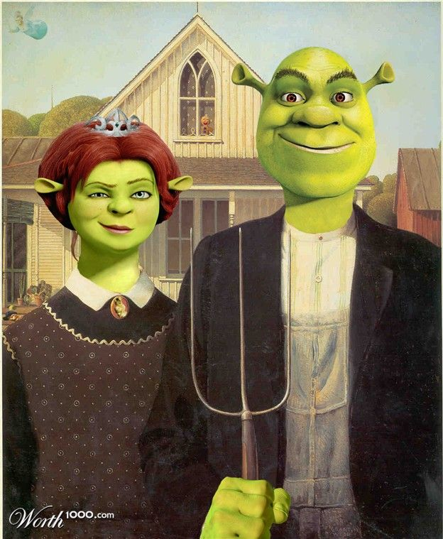 American gothic parody ideas images for Gothic painting ideas
