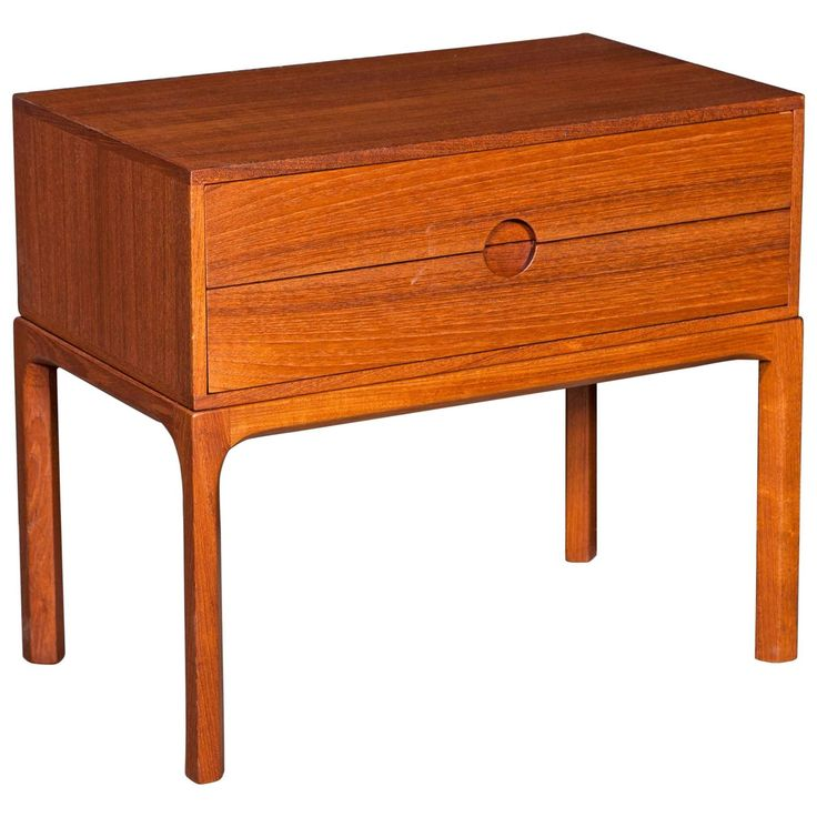 Teak Night Stand by Aksel Kjaersgaard   From a unique collection of antique and modern night stands at https://www.1stdibs.com/furniture/tables/night-stands/