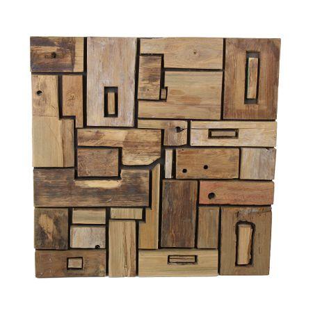 Decoratieve houten wandpaneel