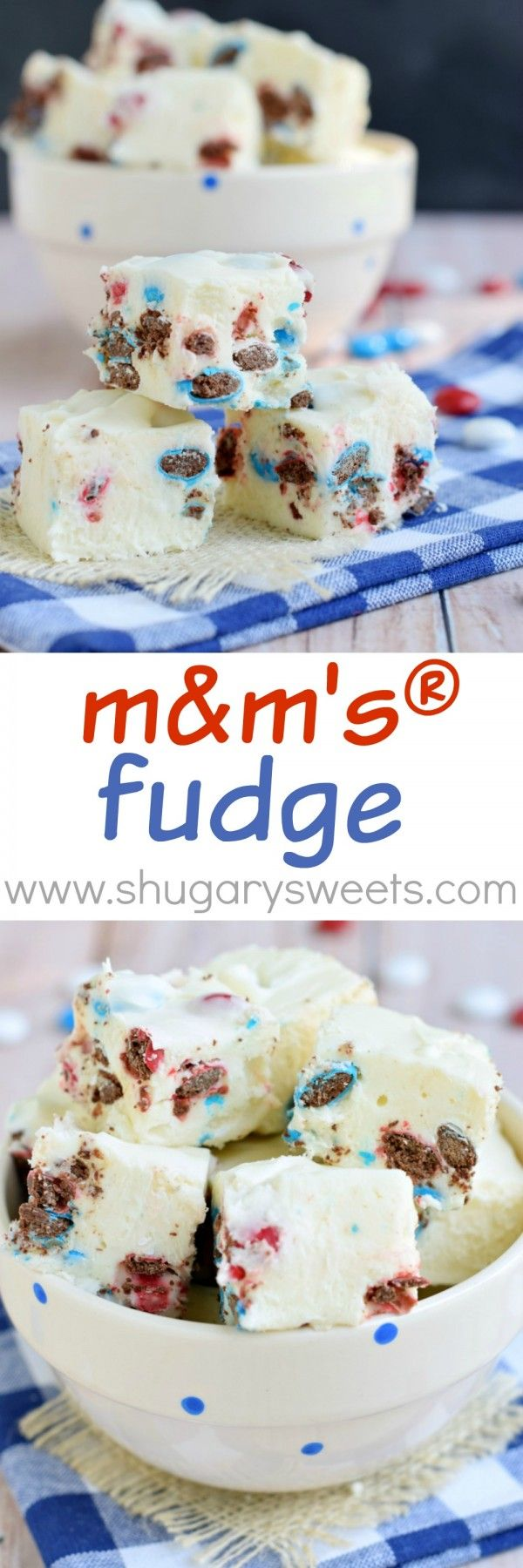 Sweet, easy M&M'S® FUDGE recipe. Use any color candy for your favorite holiday!