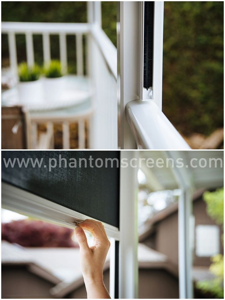 Retractable window screens - perfect way to screen in your back patio and block the sun! #freshair #phantomscreens #patio #porch #serene #serenescreens #retractable #retractablescreens