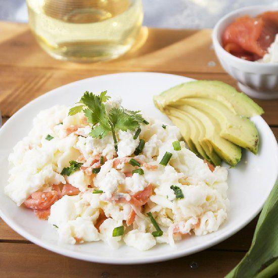 Smoked salmon, Egg whites and Goat cheese on Pinterest