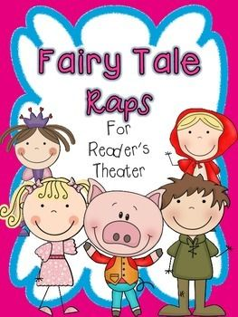 "This product contains 2 part reader's theaters for the following fairy tales: Goldilocks and the Three Bears, Jack and the Beanstalk, Little Red Riding Hood, Cinderella, The Three Little Pigs. Added: 3 versions of ""costumes"" for students to wear during their performance of the readers theaters."