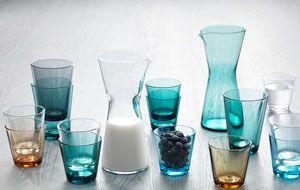 Iittala Kartio glas - i alle de fine blå og grønne nuancer (de høje glas)