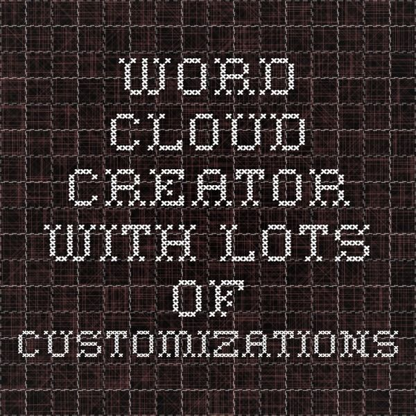 Word cloud creator with lots of customizations