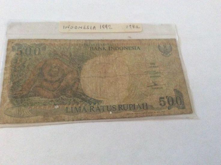 Indonesia 500 Rupiah Banknote Serial Number QMQ470845 Date 1992 Initial QMQ