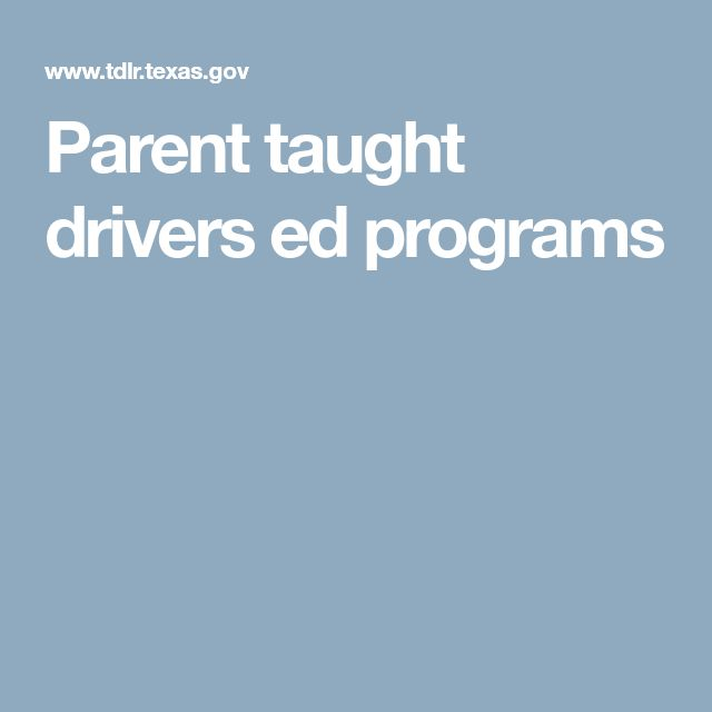 Parent taught drivers ed programs