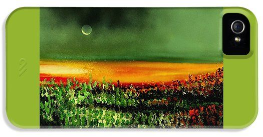 Twilight Field IPhone 5 / 5s Case Printed with Fine Art spray painting image Twilight Field by Nandor Molnar (When you visit the Shop, change the orientation, background color and image size as you wish)