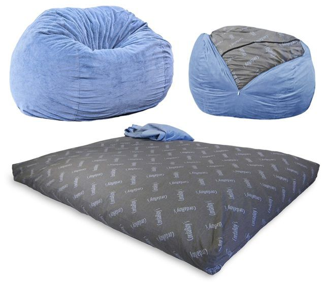 A Full-Size Bed That Pulls Out Of A Bean Bag Chair