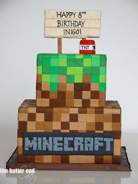 Minecraft cake - The Butter End Cakery