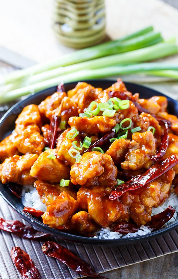 General Tso's Chicken. Sweet and Spicy and much better than take out!