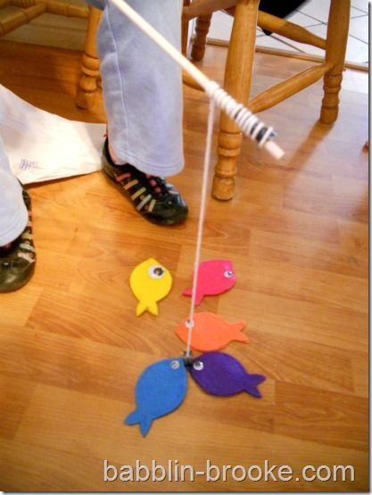 magnetic felt fishing game and other homemade toy ideas