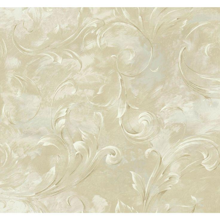 "Luxe LG Arch 27' x 27"" Scroll Roll Wallpaper"