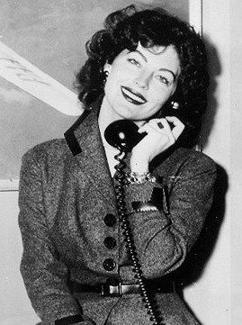 Ava Gardner on the phone