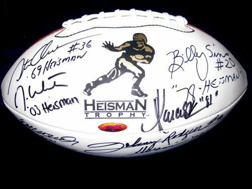 16 Heisman Trophy Winners Multi Autographed Football (Tristar COA)