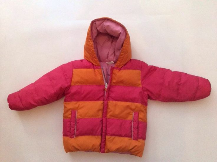 Hanna Andersson Coat 100 Girls Jacket Warmest Down Reversible Pink Puffer