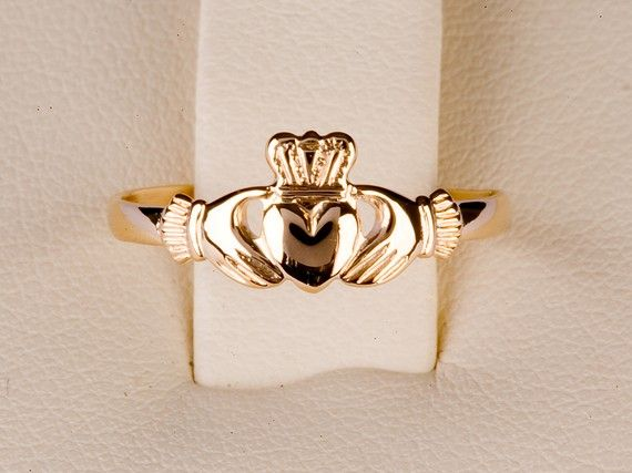 gold claddagh ring. or rose gold. just a simple one! $99