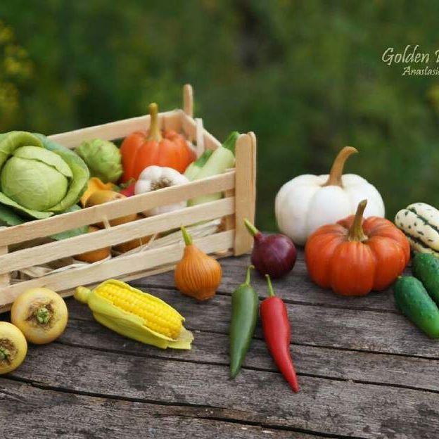 Полимерные овощи #полимерная_глина #глина#овощиизполимернойглины#игрыдлядетей#миниатюры