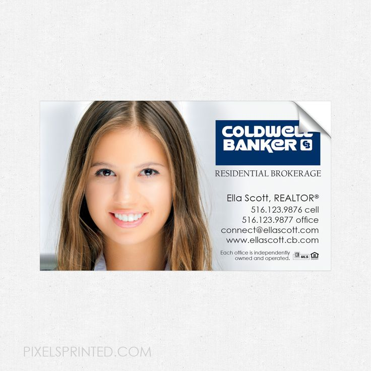 Coldwell Banker business card sticker, Coldwell Banker real estate business card sticker, business card sticker, real estate business card sticker, realtor sticker