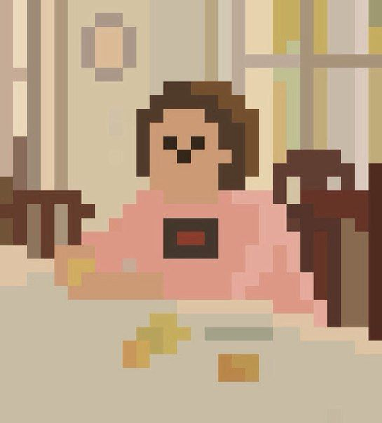 Девочка с пикселями