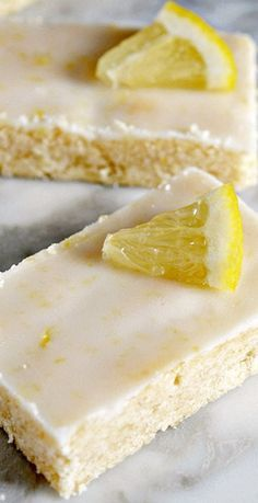Lemon Shortbread Bars More