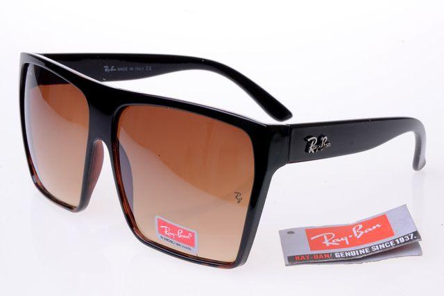 Ray-Ban Square 2128 Black Frame Tawny Lens RB1054