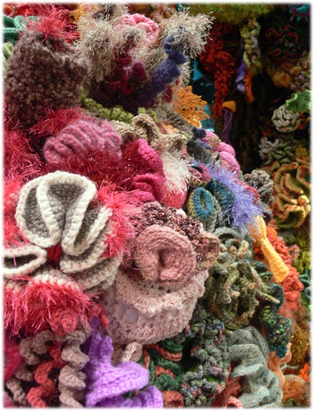 The Hyperbolic Crochet Coral Reef at the Smithsonian Institute