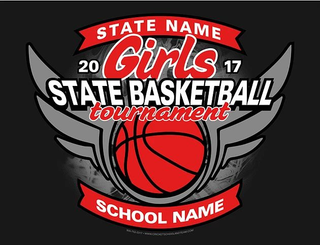 Girl's High School Basketball State Apparel / T-Shirt Designs Customize this design with your school's information and team colors. Place your order- we can have it ready to ship or pick-up as early as same day!
