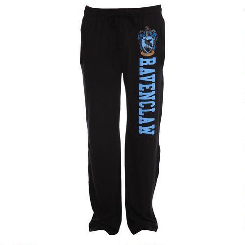 Ravenclaw Crest Black Lounge Pants These Harry Potter sweatpants are just the thing to wear when you want to relax at home after a hard day of classes at Hogwarts! $29.95