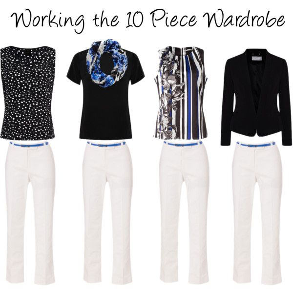 """Working the 10 Piece Wardrobe"" by annabouttown on Polyvore. Basically shop my wardrobe with these."