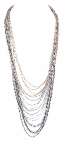 Long Seed Bead Necklace Jewelry Trendy Necklaces Rose Gold Boutique