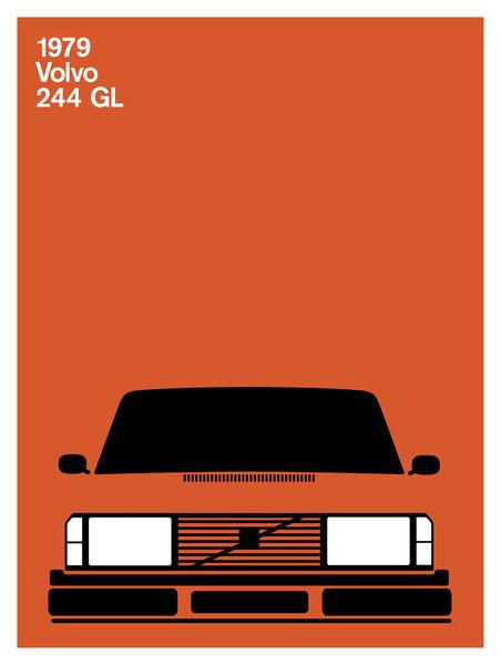 Print Collection - Volvo 244 GL, 1979