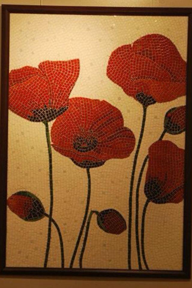 Poppies mosaic