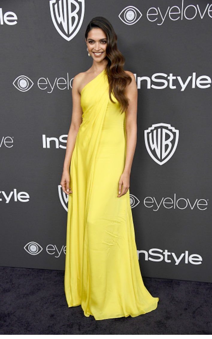 Deepika at @instyle #GoldenGlob