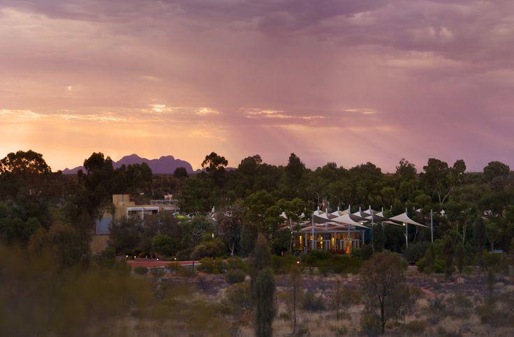 Sunset in the desert. #UniqueSleeps #SailsintheDesert #Luxury #Uluru #Australia #NorthernTerritory