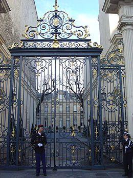 Hôtel de Beauvau (1770) place Beauvau Paris 75008. Architecte : Nicolas Le Camus de Mézières. Abrite le Ministère de l'Intérieur.