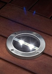 Solar LEDs for the decking, that's a good idea!