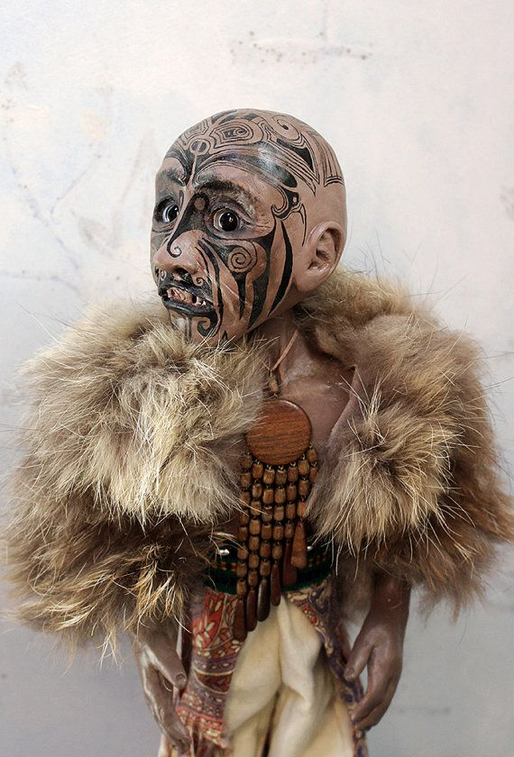 Maori doll by lalkoduch on Etsy