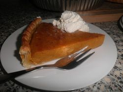 Try some amazing Pumpkin Pie! It is the perfect plate to take to any Autumn or Winter function!