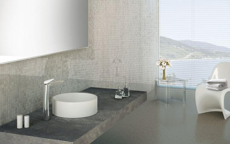 Synergy di Fir Italia, la rubinetteria di design con maniglia in DuPont™ Corian®
