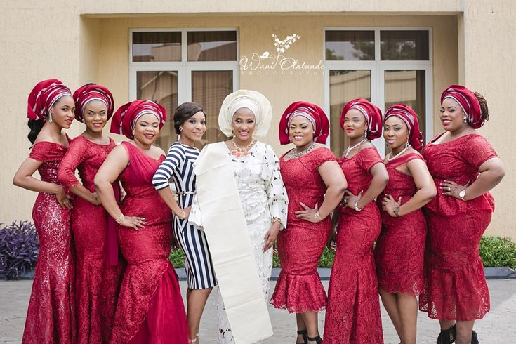 Beautiful Traditional Yoruba Wedding | Aisle Perfect: http://aisleperfect.com/2016/03/traditional-yoruba-wedding.html #wedding #bride #bridesmaids